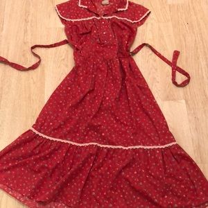 Dresses & Skirts - Vintage red prairie dress by Oops California!